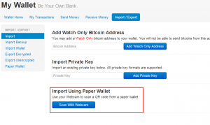 import-using-paper-wallet