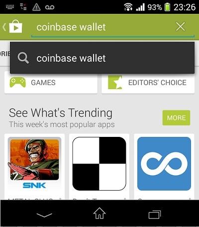 портфейл на Coinbase